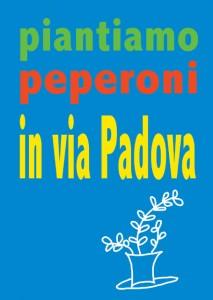 Piantiamo Peperoni in Via Padova