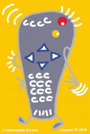 In occasione dello sciopero tv di esterni.org potete lasciarmi il vostro telecomando per 2 giornie ritirarlo poi assieme al suo ritratto.